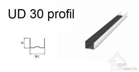 UD 30 gipszkarton profil 3 m (II. osztály)