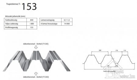 Bp2  T-153 trapézlemez
