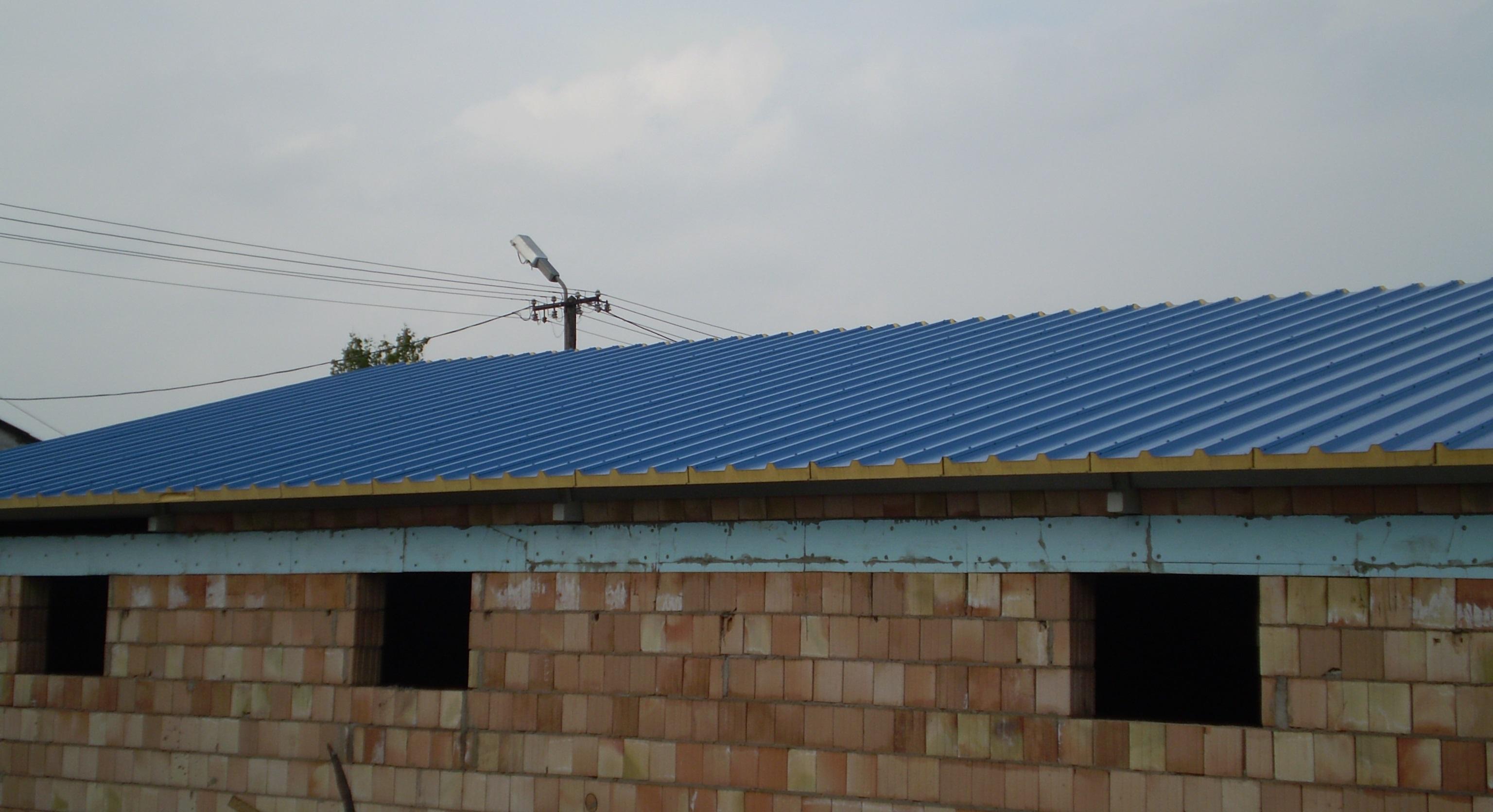 PW PUR-D tetőpanel RAL 5010