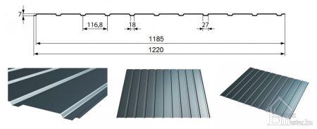 Renova-T7 trapézlemez, kétoldalon faerezet mintás bevonattal 0,45 mm