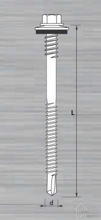 Szendvicspanel csavar fém tartószerkezethez / RAL