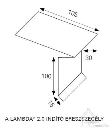 Ereszszegély lemez (Lambda) 2 fm/db