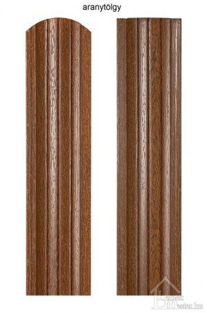 Renova-GARDEN acél kerítéselem, kétoldalon faerezet mintás bevonattal